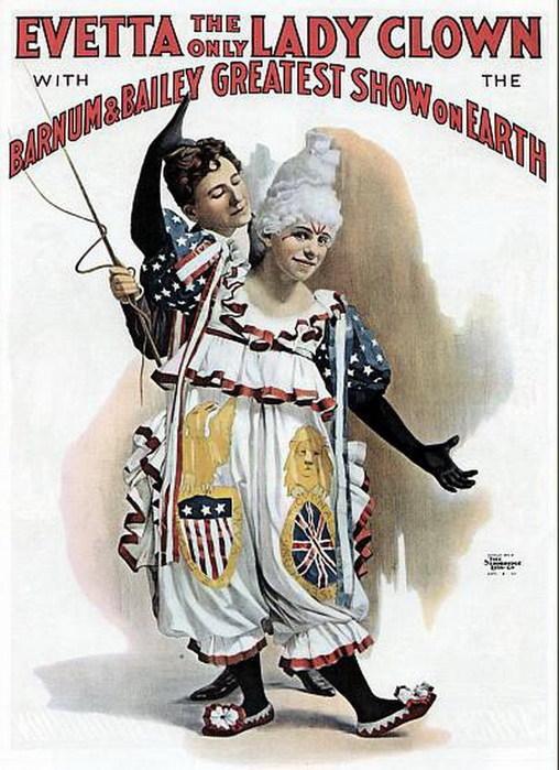 сто лет назад в русском цирке публику развлекали рыжий и белый клоуны
