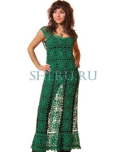 Платья вязанные крючком и схемы для женщин с аппетитными внешности