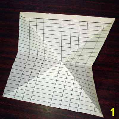 Как сделать чёртика из бумаги
