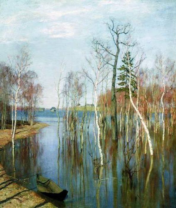 Левитан и и весна большая вода 1897