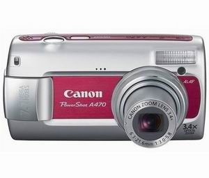 Canon PowerShot A470 Red