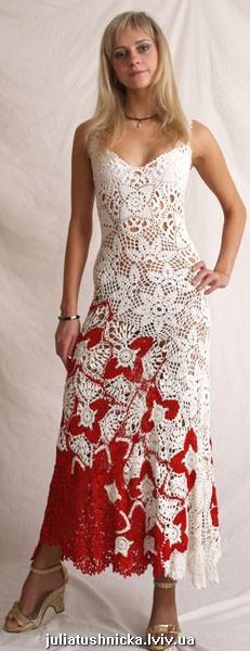 Идеи платья ирландским кружевом