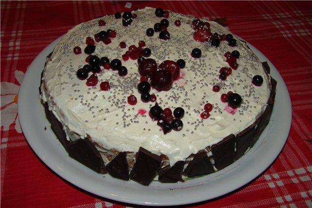 Рецепт торта Ягоды на снегу