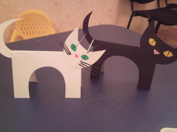 Поделка кошка из бумаги