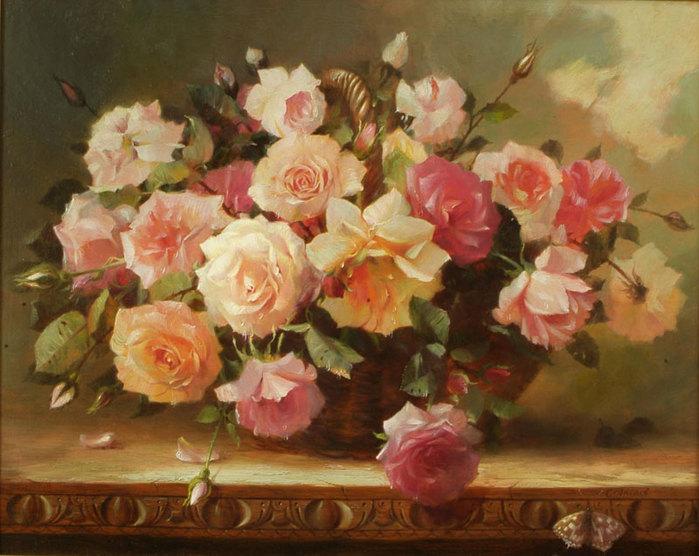 Часть 3. Серия сообщений.  Букеты.  Розы из сада.  С.Акопов.  Цветы в вазах.