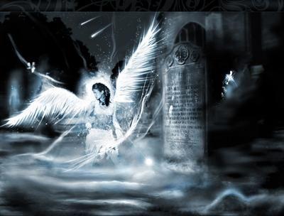 Ангел воин взывает к небу обои и