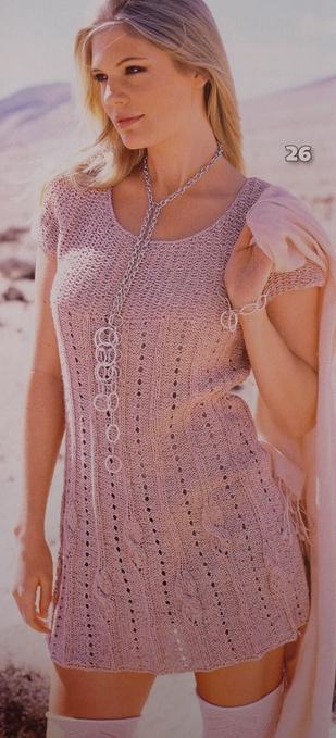 21 раз.  Вязание на спицах и крючке/Платья, пальто.