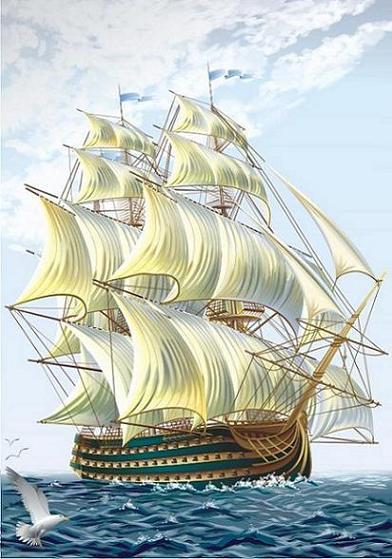 Все ценности сели на свои корабли...  Когда мимо проплывал корабль Грусти, она попросилась к ней, но та ей ответила...