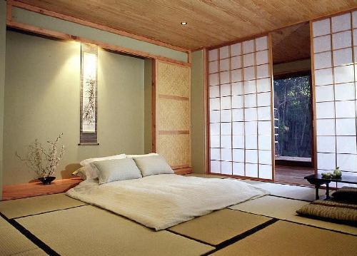 Оформляем интерьер спальни в японском стиле.