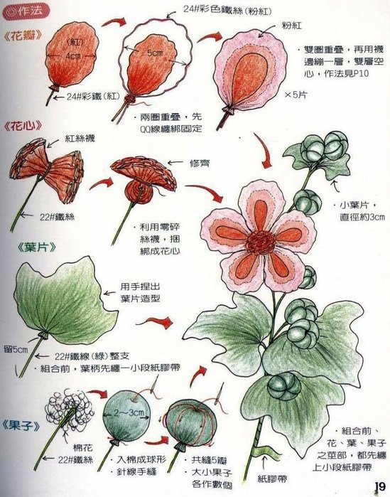 Капроновые цветы схемы
