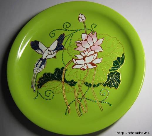 Как расписать тарелки своими руками