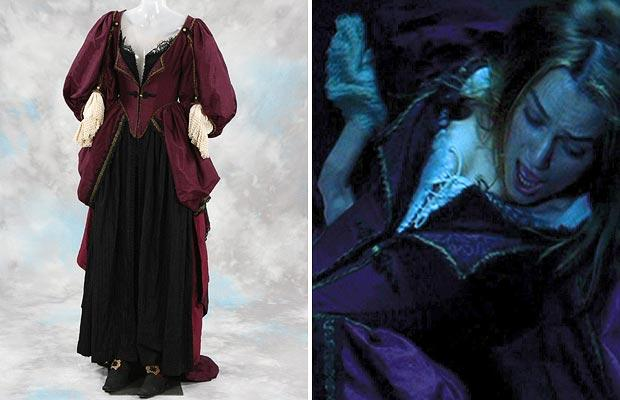 Elizabeth swann red dress