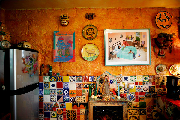 Квартира или дача в мексиканском стиле Колоритные интерьеры из NYTimes.
