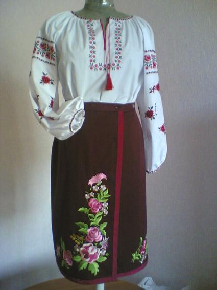 Как сделать украинский костюм