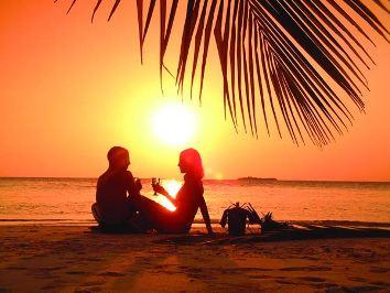 Тропический коктейль в морском Раю.