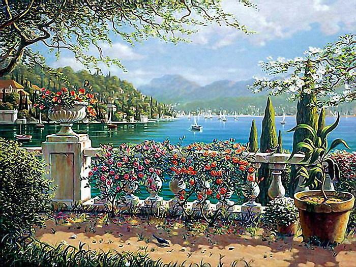 средиземноморские пейзажи обои на рабочий стол № 648688 бесплатно