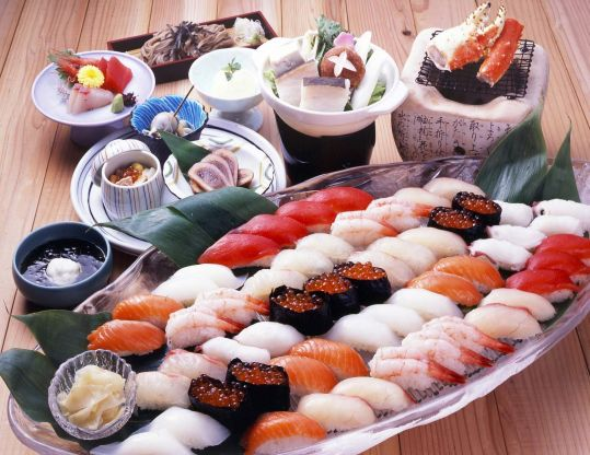 Традиционая японская еда из