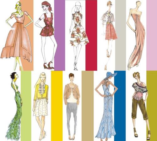 Цвет в эскизах одежды