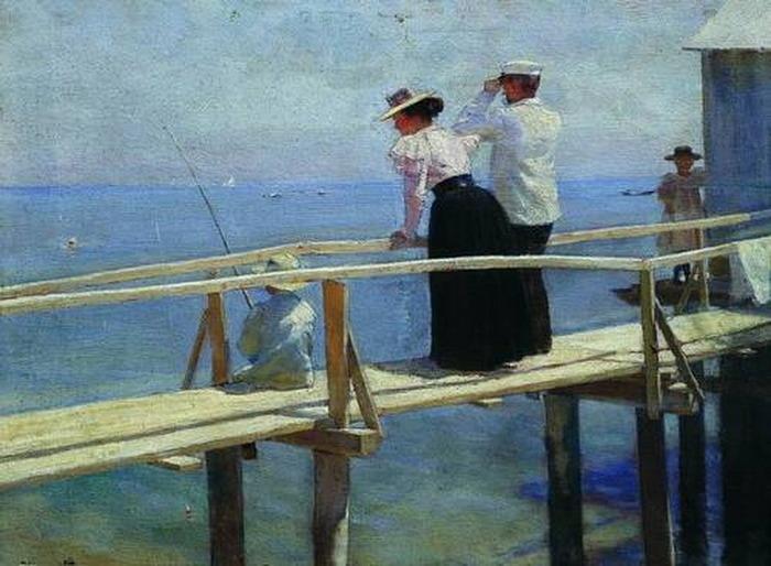 художник бунин н.н. на рыбной ловле
