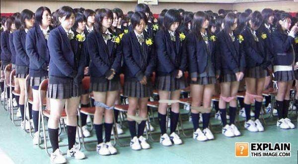 Blonde coed in school uniform strips her cotton panties to spread on the desk № 658131 загрузить