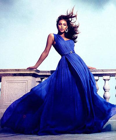 Вечернее синее платье фото