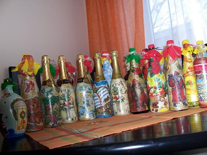 Интересные фото декупаж бутылок - своими руками пошаговый мастер класс c фото + видео