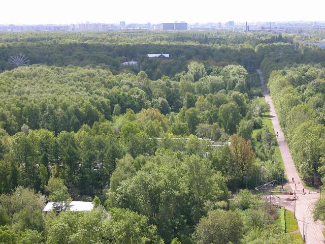 Вид на Измайловский парк.