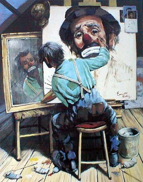 Картина рисующая сама себя