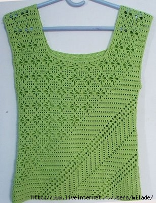 Crochet Patterns Shirts : Crochetpedia: Crochet Sleeveless Shirt Patterns