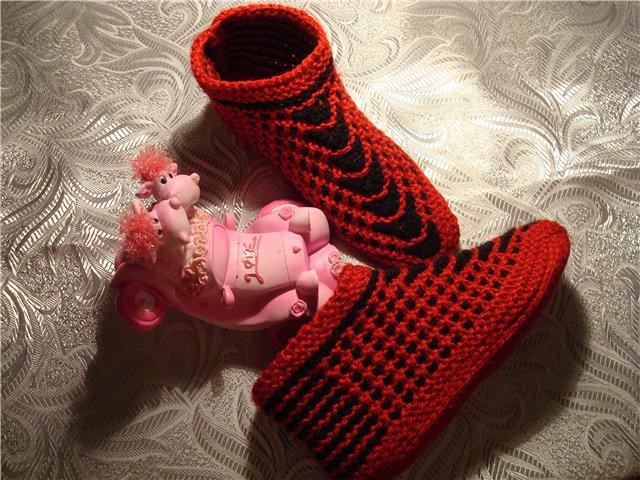 Вязанные тапочки. вязание спицами носки тапочки. носки