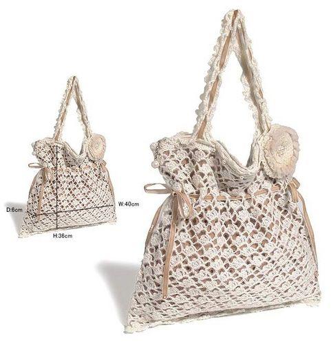 вязание летних сумок крючком со схемами.