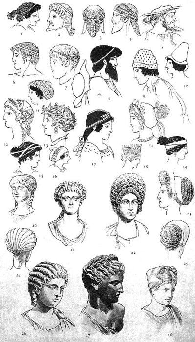 В Древней Греции парикмахерское искусство было наиболее развитым.