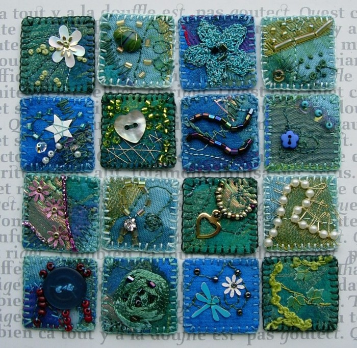 Crazy Quilt And Embroidery Mini Patterns Make Handmade
