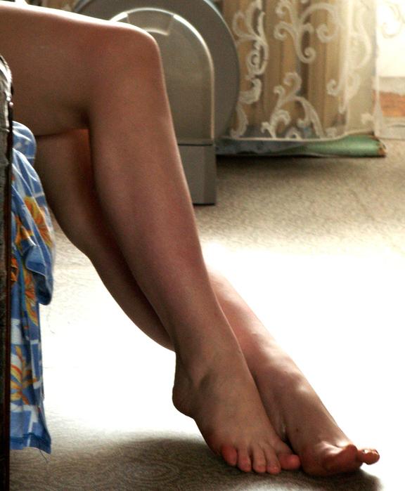 Ножки красивых девушек в домашних условиях