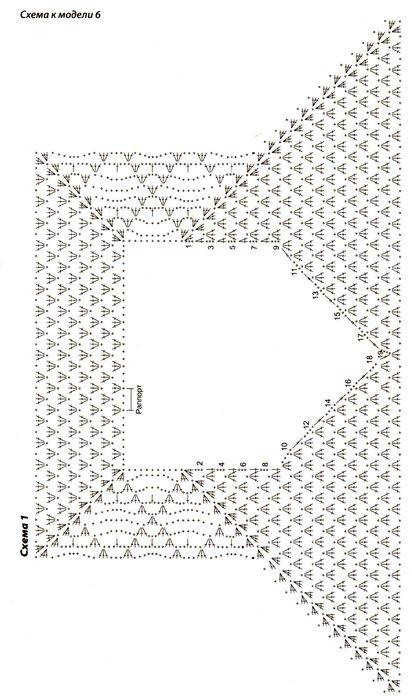 Вязание крючком сверху вниз схемы кофты