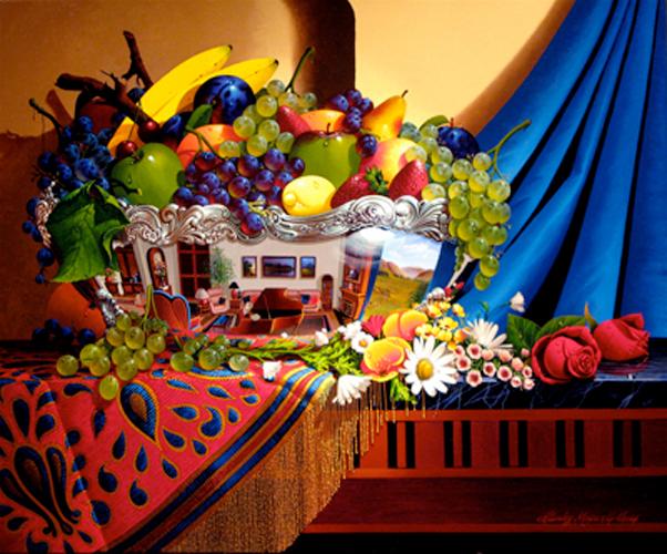 """Предпросмотр - Схема вышивки  """"Натюрморт с фруктами """" - Схемы автора  """"lucha """" - Вышивка крестом."""