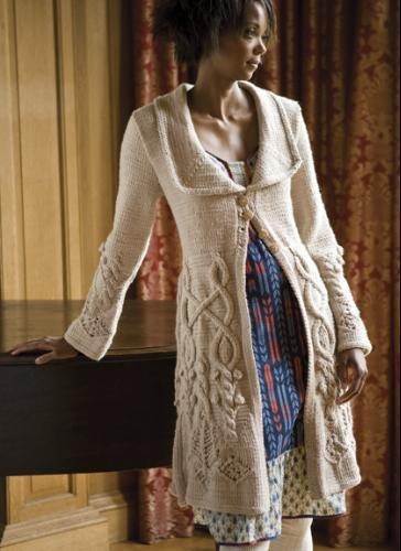 вязанное пальто для женщин картинки.