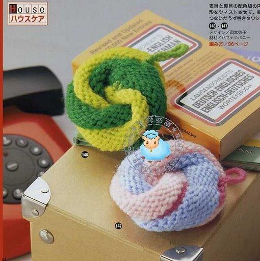 Схема вязания крючком мочалок.