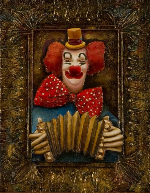 "Схема вышивки  ""Клоун "": таблица цветов."