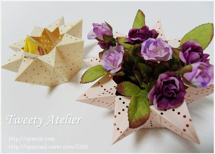Искусство оригами из бумаги - цветок лотоса, схема сборки.  Смотрите раздел.  Нарядная коробка своими руками - схема...