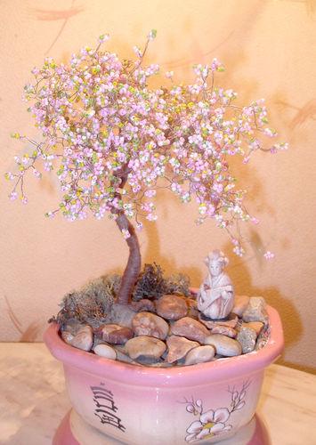 Деревья и цветы из бисера схемы можно найти в журналах рукоделия...