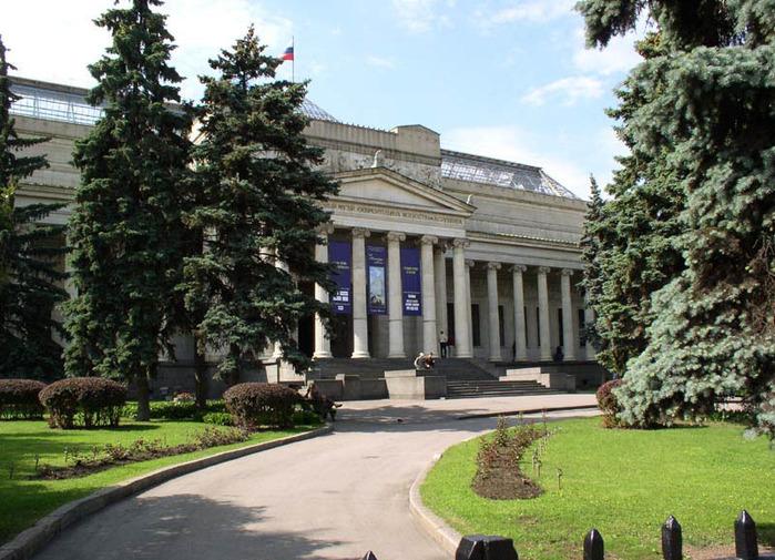 ...церемония закладки Музея изящных искусств (Государственный музей изобразительных искусств имени А.С.Пушкина) .