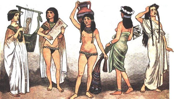 Природные условия долины Нила способствовали разведению этого растения.  Мастерство египетских ткачей достигло...