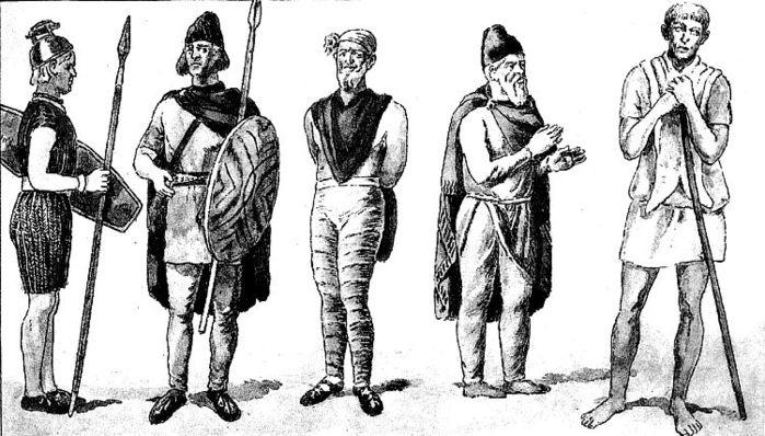 История костюма в картинках