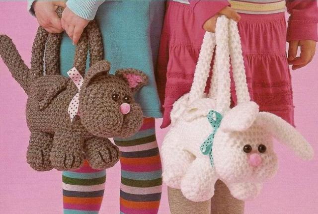 Сумочки для девочек.  Несколько сумочек в виде красивых игрушек.