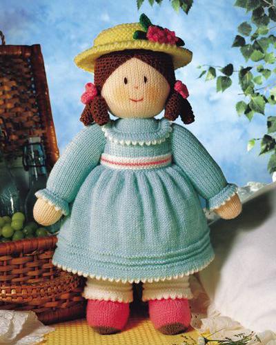 Описание: Вязаная кукла