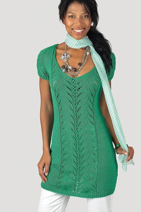вязаное платье схемы спицами.
