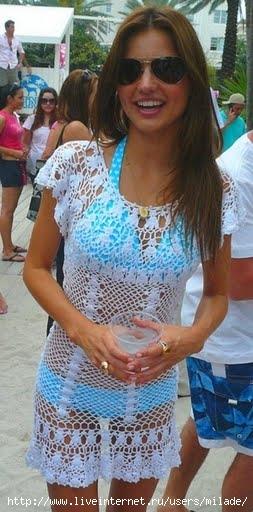 схемы и вязаные платья