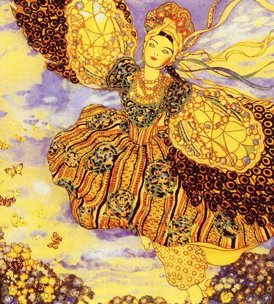 Жар-птица. Свирель славянина. 1907 - Сомов Константин Андреевич.