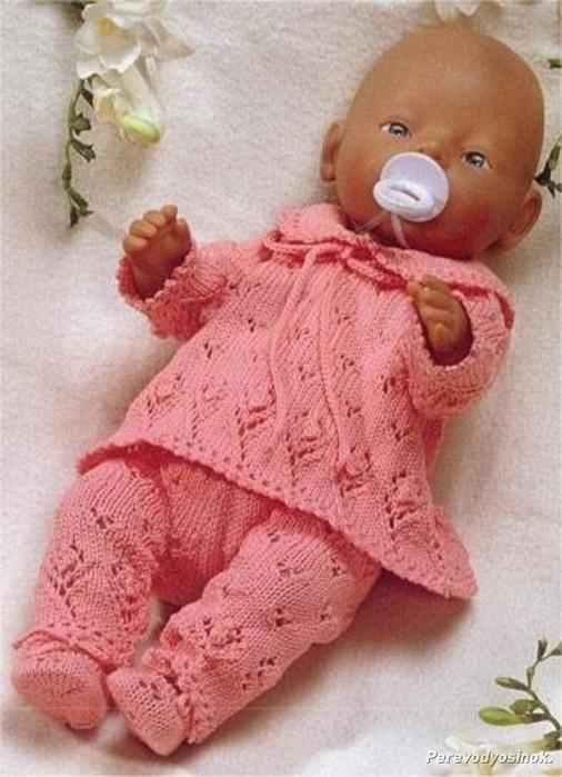 Одежда для куклы беби бон спицами схемы